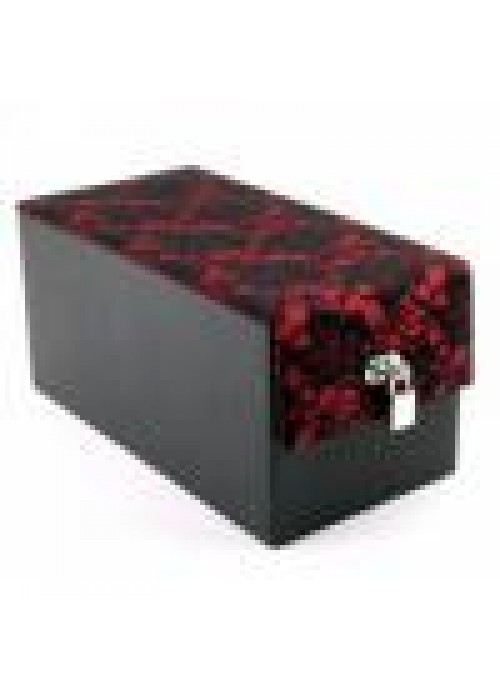 Devine Toys Leather  Toy Box- Red Lace