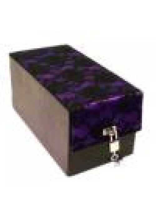 Devine Toys Leather Toy Box-Purple lace top