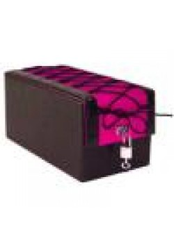 Devine Toys Leather Toy Box- Hot Pink w lacing