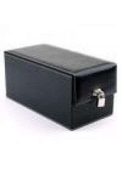 Devine Toys Leather Toy Box-Black