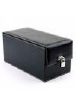 Devine Toys Leather Toy Box-Black