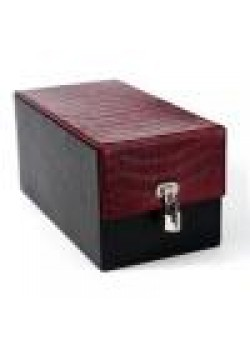 Devine Toys Leather Toy Box-Red Croc